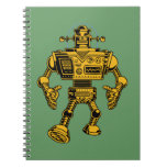 Robot 313 -gold note book