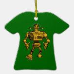 Robot 313 -gold ornaments