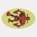Robot 313 - rojo colcomanias ovaladas