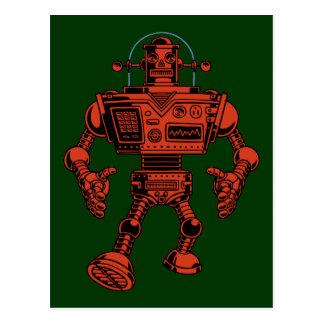 Robot 313 - rojo tarjetas postales