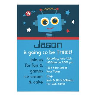 Robot 3rd Birthday Custom Invitations