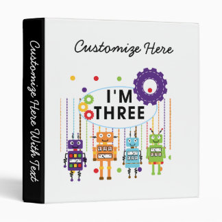 Robot 3rd Birthday T shirts and Gifts Binder