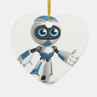"""Robot 4"" Ceramic Ornament"