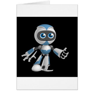 """""""Robot 4"""" in black Greeting Cards"""