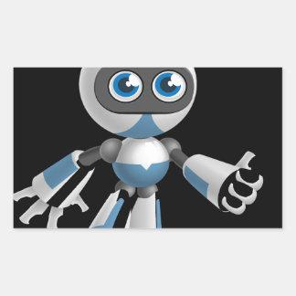 """Robot 4"" in black Rectangular Sticker"