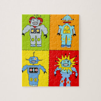 Robot 4 rompecabeza con fotos