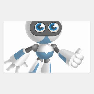 """""""Robot 4"""" Rectangle Sticker"""