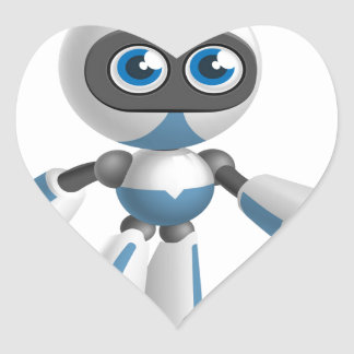 """""""Robot 4"""" Heart Sticker"""