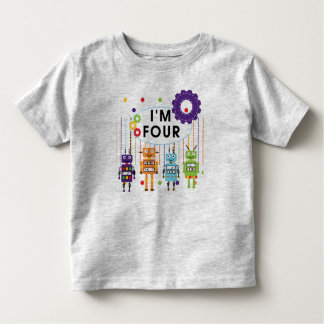 Robot 4th Birthday Tshirts and Gifts