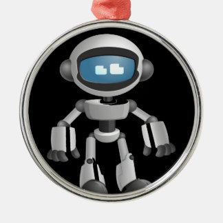 """Robot 5"" in black Metal Ornament"
