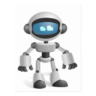 """Robot 5"" Postcard"