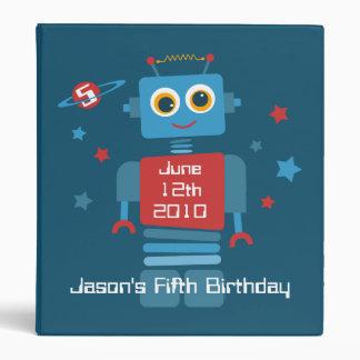 Robot 5th Birthday Keepsake Photo Binder