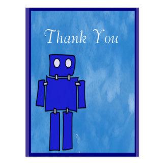 Robot 5th Birthday Thank You Postcard