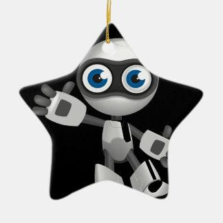 """""""Robot 6"""" in black Ceramic Ornament"""