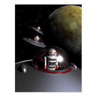 ROBOT - 7 Saucers Postcard