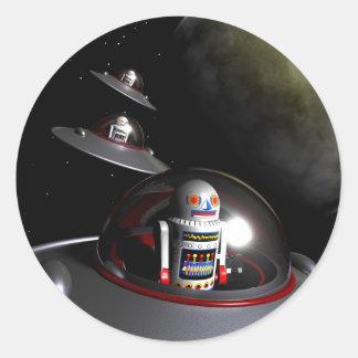 ROBOT - 7 Saucers Sticker