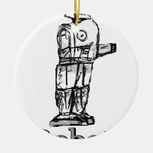 Robot Adorno Redondo De Cerámica
