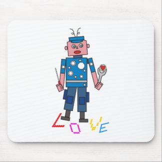 Robot amor mouse pad