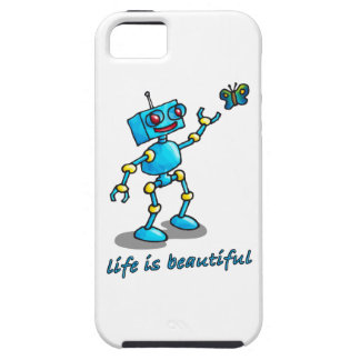 robot and butterfly - life is beautiful iPhone SE/5/5s case
