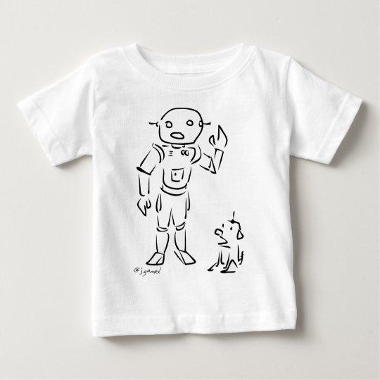 Robot and His Dog Baby T-Shirt