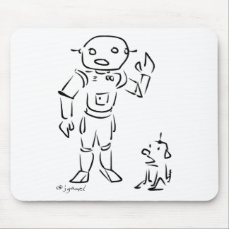 Robot and His Dog Mouse Pad