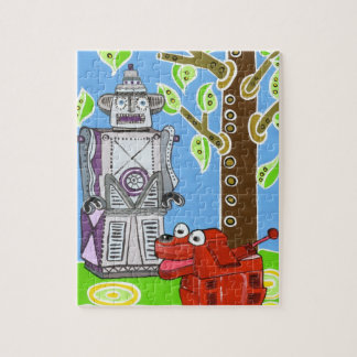 Robot and His Robot Dog Jigsaw Puzzle