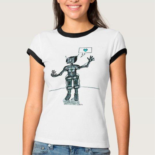 Robot And Kitten Are Friends T-Shirt