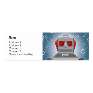 Robot and Spaceship Profile Card