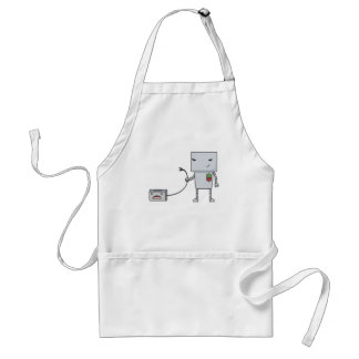 Robot and Toaster Adult Apron