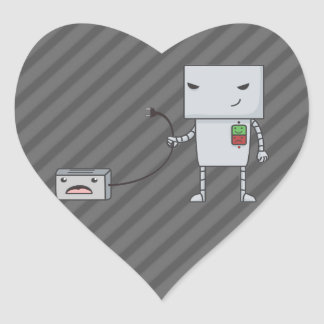 Robot and Toaster Heart Sticker