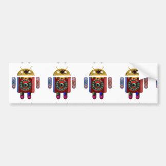 Robot ANDROIDE Etiqueta De Parachoque