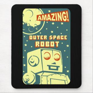 Robot asombroso del espacio exterior mouse pad