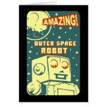 Robot asombroso del espacio exterior tarjetas