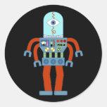 Robot asustadizo del globo del ojo etiqueta