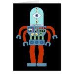 Robot asustadizo del globo del ojo tarjeton