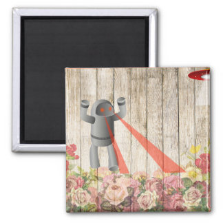 Robot attack 2 inch square magnet