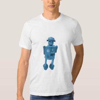 Robot Attack! Blue Atomic Space age Robot Shirt