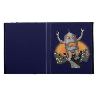 Robot Attack iPad Folio Cover