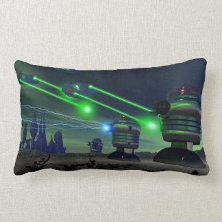 Robot Attack Lumbar Pillow
