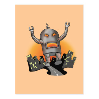 Robot Attack Postcard