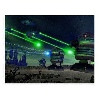 Robot Attack Postcard