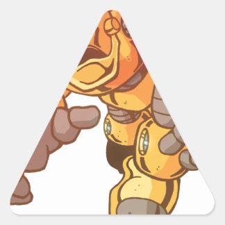 Robot Attack Triangle Sticker