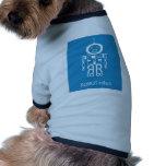 Robot azul camisetas de mascota