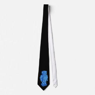 Robot azul corbatas