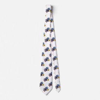 Robot azul del juguete con megáfono corbatas personalizadas