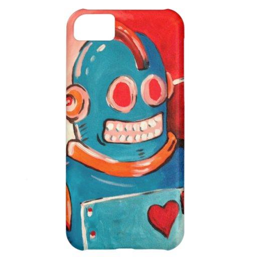 Robot azul funda para iPhone 5C