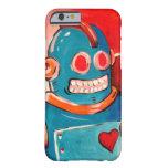 Robot azul funda para iPhone 6 barely there