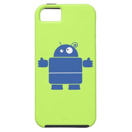 Robot azul lindo iPhone 5 Case-Mate protector
