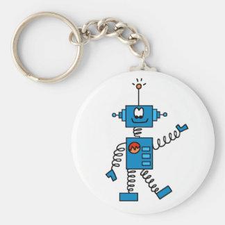 Robot azul llavero