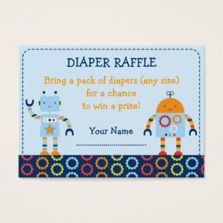 Robot Baby Bots Diaper Raffle Tickets